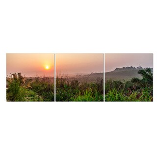 Furinno Seni 'Dawn Scenery' Multicolored MDF 3-panel Framed Photography Triptych Print