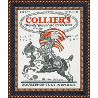 Vintage Collection 'Collier's Current Events' Framed High Quality Print on Canvas