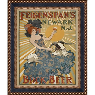 Vintage Collection 'Feigenspan's Bock Beer' Framed High Quality Print on Canvas