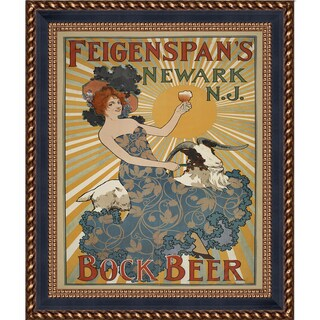 Vintage Collection 'Feigenspan's Bock Beer' Framed High Quality Print on Canvas