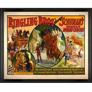 Vintage Collection 'Ringling Brothers' Framed High Quality Print on Canvas