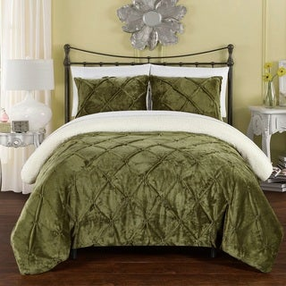 Chic Home 3-Piece Chiara Bed-In-A-Bag Green Comforter 3 Piece Set