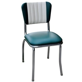 Retro Tri-colored Vinyl Home Dining Chair