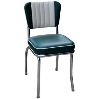 Richardson Seating Green Chrome/Steel Retro Dining Chair