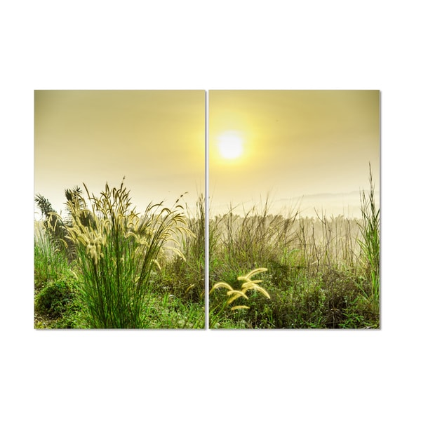 Furinno Framed 'Seni Morning Scenery' MDF and Vinyl 40-inch 27.5-inch 2-panel Photography Triptych Print