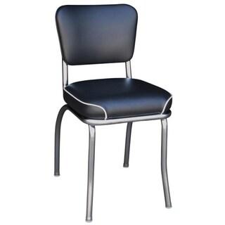 Richardson Seating Chrome Plated Steel/ Black Vinyl Retro Home Side Chair