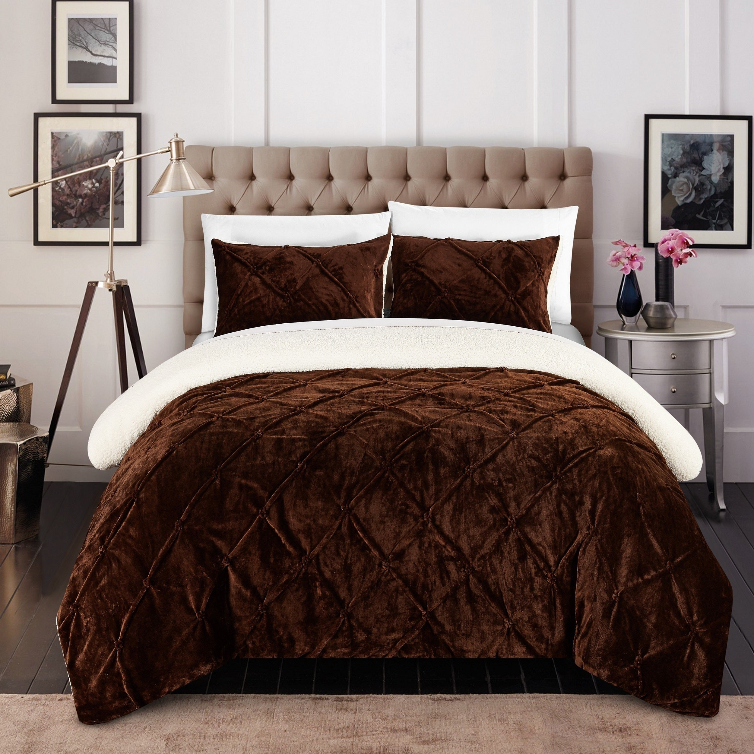Chic Home 3 Piece Chiara Bed In A Bag Brown Comforter Set On Sale Overstock 12853216