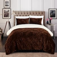 Chic Home 3-Piece Chiara Bed-In-A-Bag Brown Comforter Set