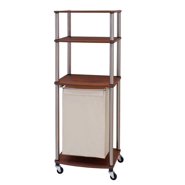 Household Essentials Rolling Laundry Hamper Storage Cart Free Shipping Today 12853218