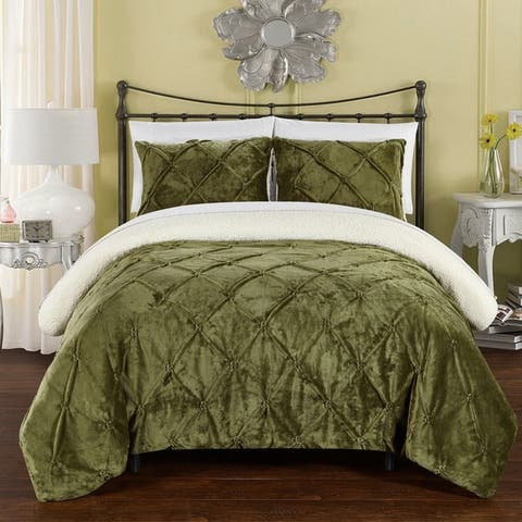 Chic Home 7-Piece Chiara Bed-In-A-Bag Green Comforter Set