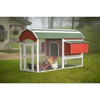 Prevue Pet Products Large Red Barn Chicken Coop