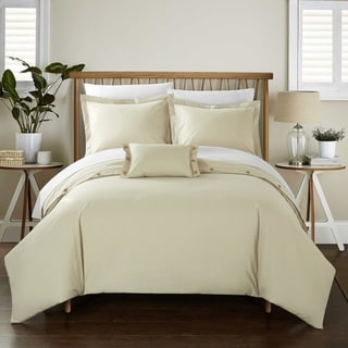 Chic Home 8-Piece Astrid Bed-In-A-Bag Beige Duvet Set