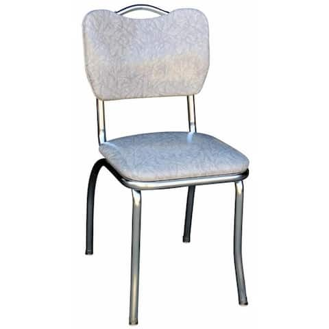 Retro Home Grey Vinyl/Steel Dining Chair