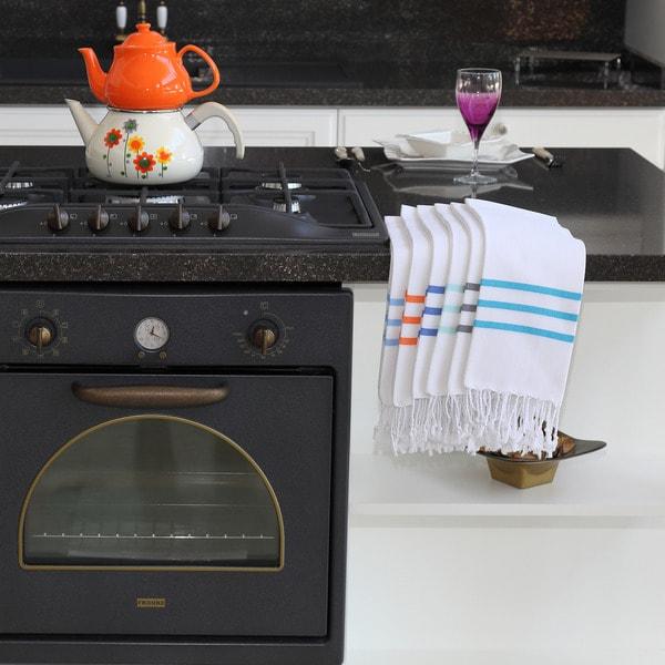 Porch & Den Kirby Pestemal Fouta Turkish Cotton Hand/Kitchen Towel