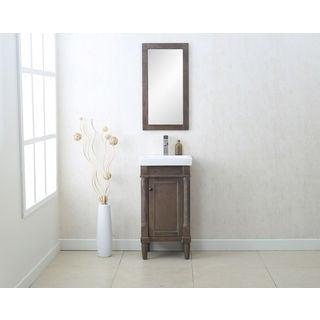 Delightful Legion Furniture Weathered Grey Ceramic/Glass/MDF/Wood 18 Inch Single