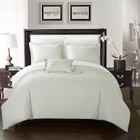 Chic Home 8-Piece Astrid Bed-In-A-Bag White Duvet Set