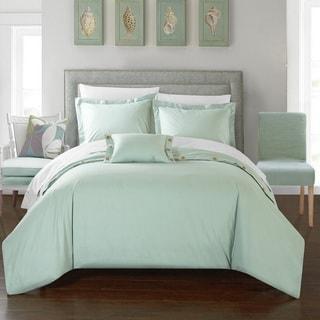 Chic Home 8-Piece Astrid Bed-In-A-Bag Aqua Duvet Set