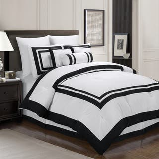 everrouge caprice hotel look 7 piece comforter set - Black And White Comforter Set