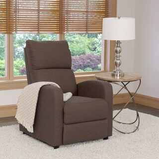 CorLiving Moor Linen Reclining Armchair (Option: Brown)