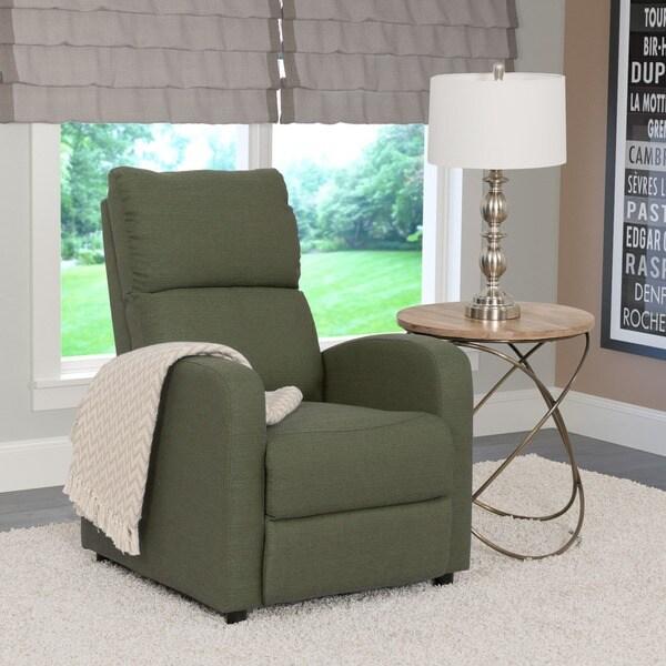 Moor Linen Contemporary Recliner Chair