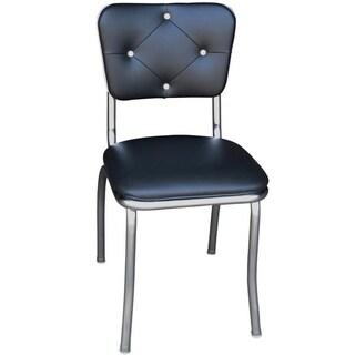 Retro Black Vinyl Home Dining Chair