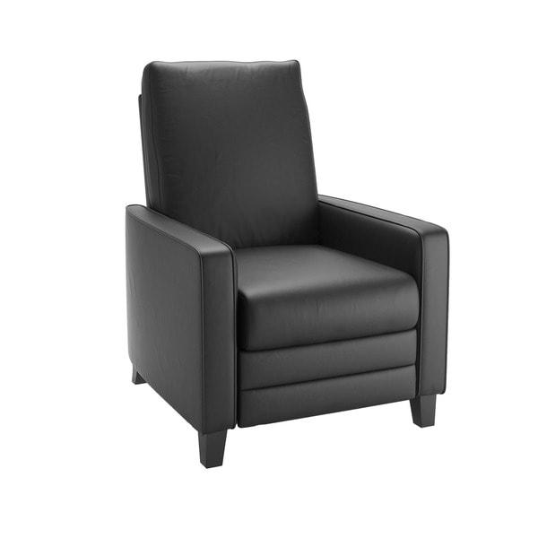 CorLiving Kelsey Bonded Leather Modern Recliner Armchair