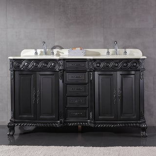 OVE Decors Trent Black Wood 60 inch Double sink Bathroom Vanity. Bathroom Vanities   Shop The Best Deals For Apr 2017