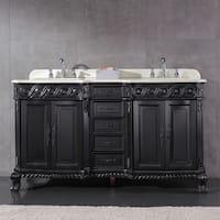 OVE Decors Trent Black Wood 60-inch Double-sink Bathroom Vanity