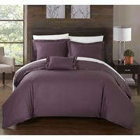 Chic Home 8-Piece Astrid Bed-In-A-Bag Purple Duvet Set