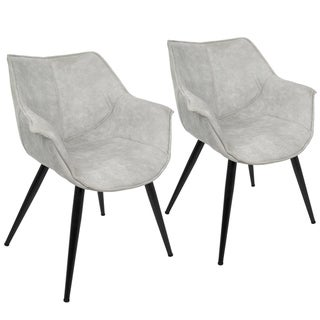 LumiSource Wrangler Contemporary Accent Chair (Set of 2)