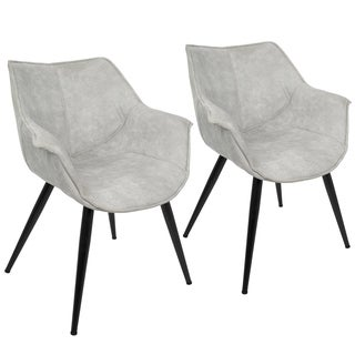 LumiSource Wrangler Fabric/ Metal Contemporary Accent Chair (Set of 2)