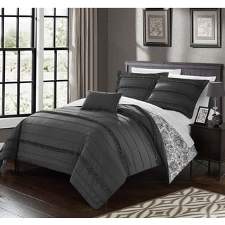 Chic Home 8-Piece Atticus Bed-In-A-Bag Grey Duvet Set