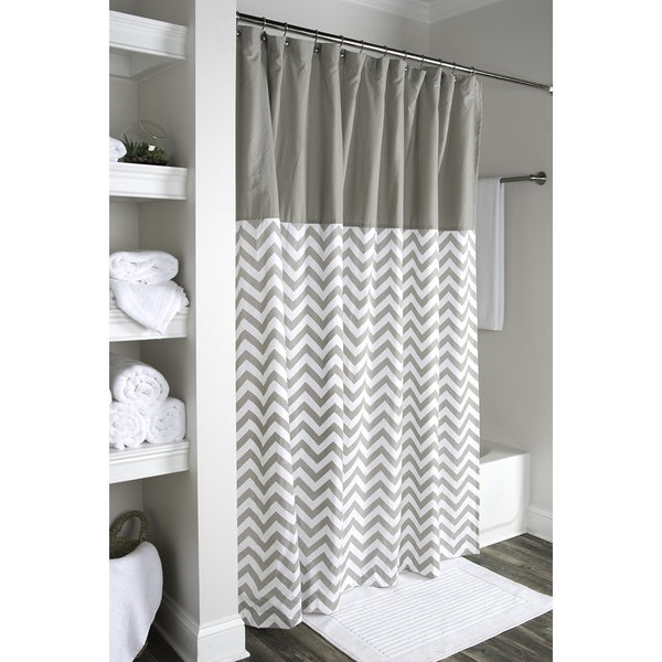 arden loft geometric grey white shower curtain free