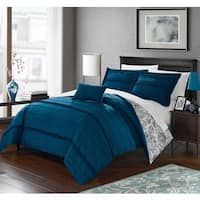 Chic Home 8-Piece Atticus Bed-In-A-Bag Blue Duvet Set