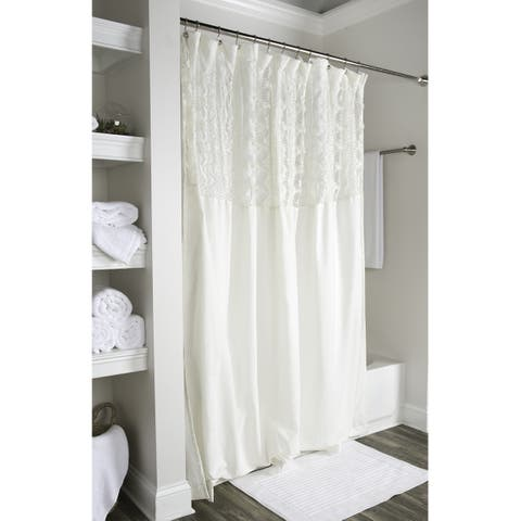 Arden Loft Solid Ivory 72x72 Shower Curtain