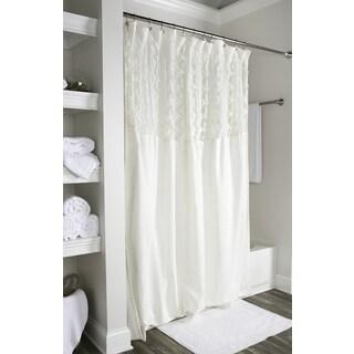Arden Loft Solid Ivory 72x72 Shower Curtain