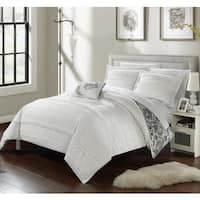 Chic Home 8-Piece Atticus Bed-In-A-Bag White Duvet Set