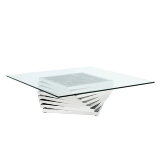Sunpan Wynn Stainless Steel Coffee Table