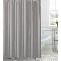 Jane Faux Silk Shower Curtain w/ 12 Color Coordinating Metal Rings