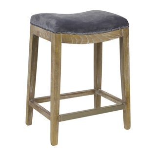 Handmade Harper Velvet Counter Stool (United States)