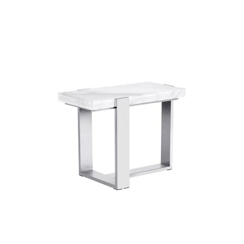 Tribecca Stainless Steel Marble End Table