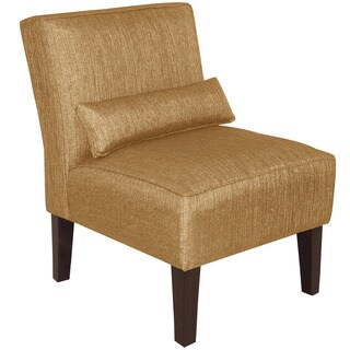 Skyline Furniture Gold Polyester Armless Slipper Chair