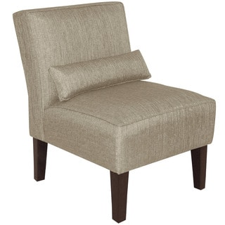Skyline Furniture Groupie Pewter Polyester/Viscose Armless Slipper Chair