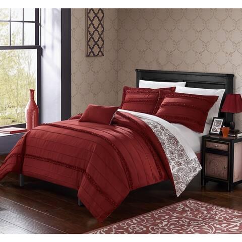 Chic Home 8-Piece Atticus Bed-In-A-Bag Brick Duvet Set