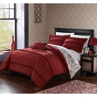 Chic Home 8-Piece Atticus Bed-In-A-Bag Brick Duvet Set