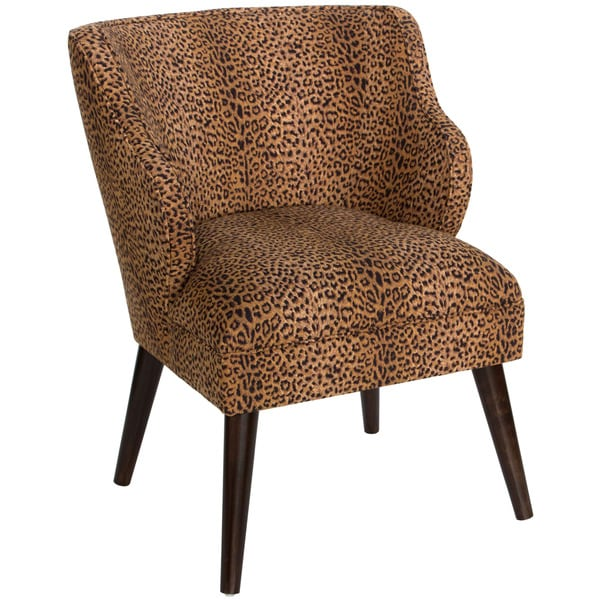 Skyline Furniture Cheetah Earth Cotton Upholstered Chair by Skyline Furniture
