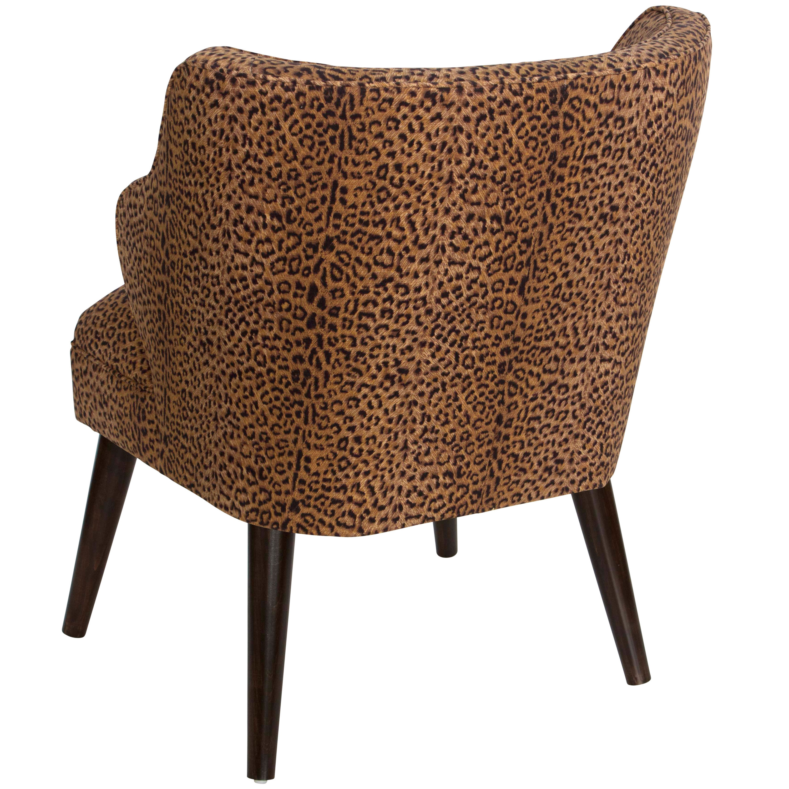 Skyline Furniture Cheetah Earth Cotton Upholstered Chair N A