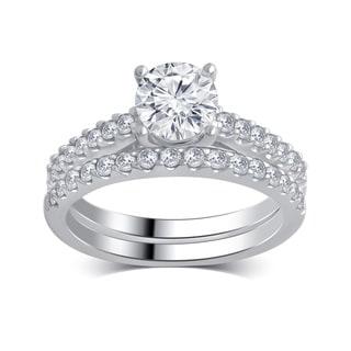 Divina 14k White Gold 1 1/4ct TDW Diamond Bridal Set