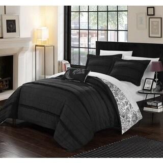 Chic Home 8-Piece Atticus Bed-In-A-Bag Black Duvet Set