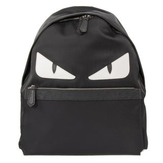 Fendi Monster Black Nylon Backpack